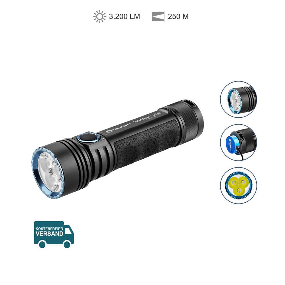 Olight Seeker 2 Pro Starke Taschenlampe - Schwarz