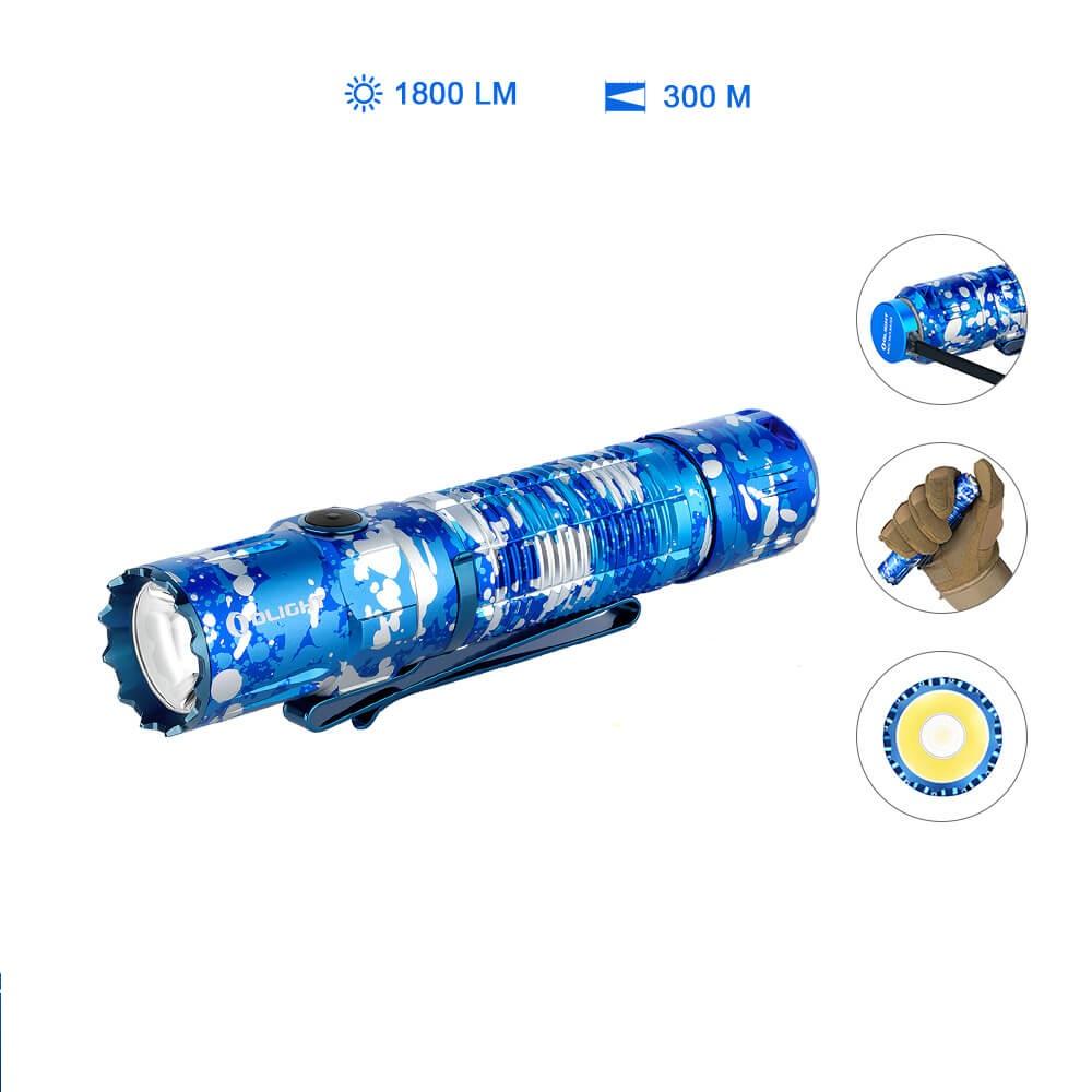 Olight M2R PRO Taschenlampe Ocean Camo - Münzeinlösung