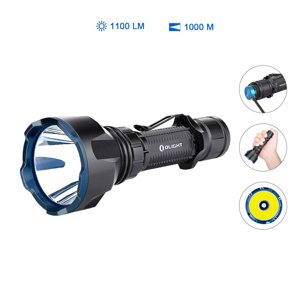 Olight Warrior X Turbo Taschenlampe - Schwarz