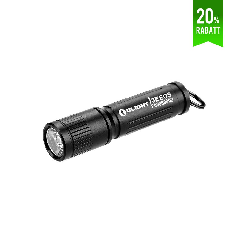 Olight i3E EOS Schlüsselbund Taschenlampe - Schwarz