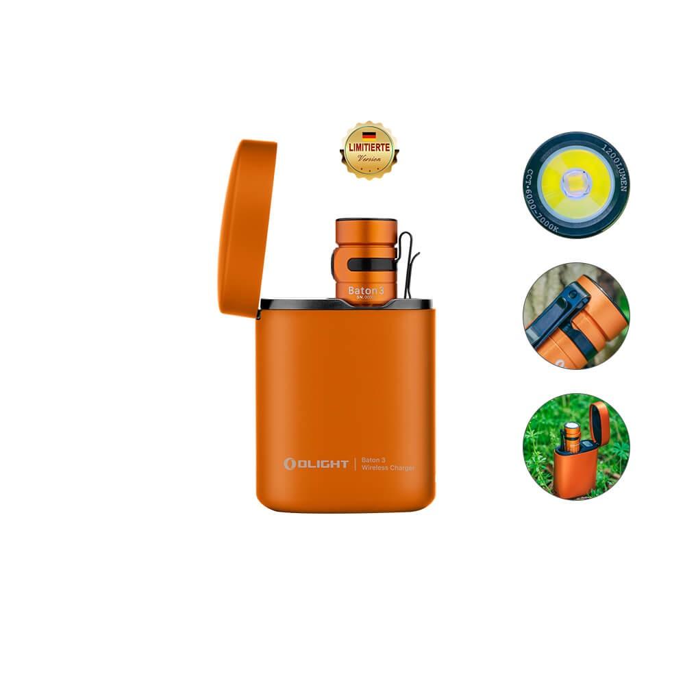 Olight Baton 3 Kit Orange Taschenlampe