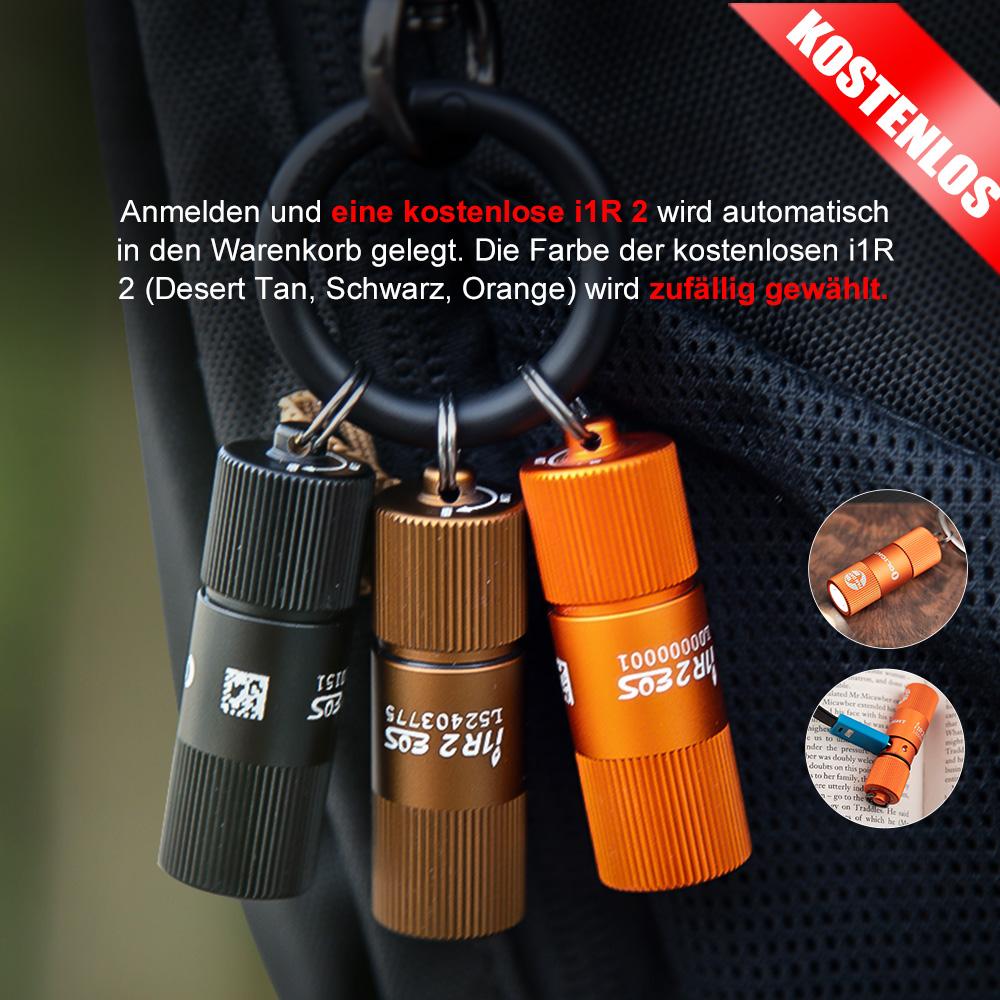 Olight i1R2 EOS Schlüsselbund Zufällige Farbe Taschenlampe