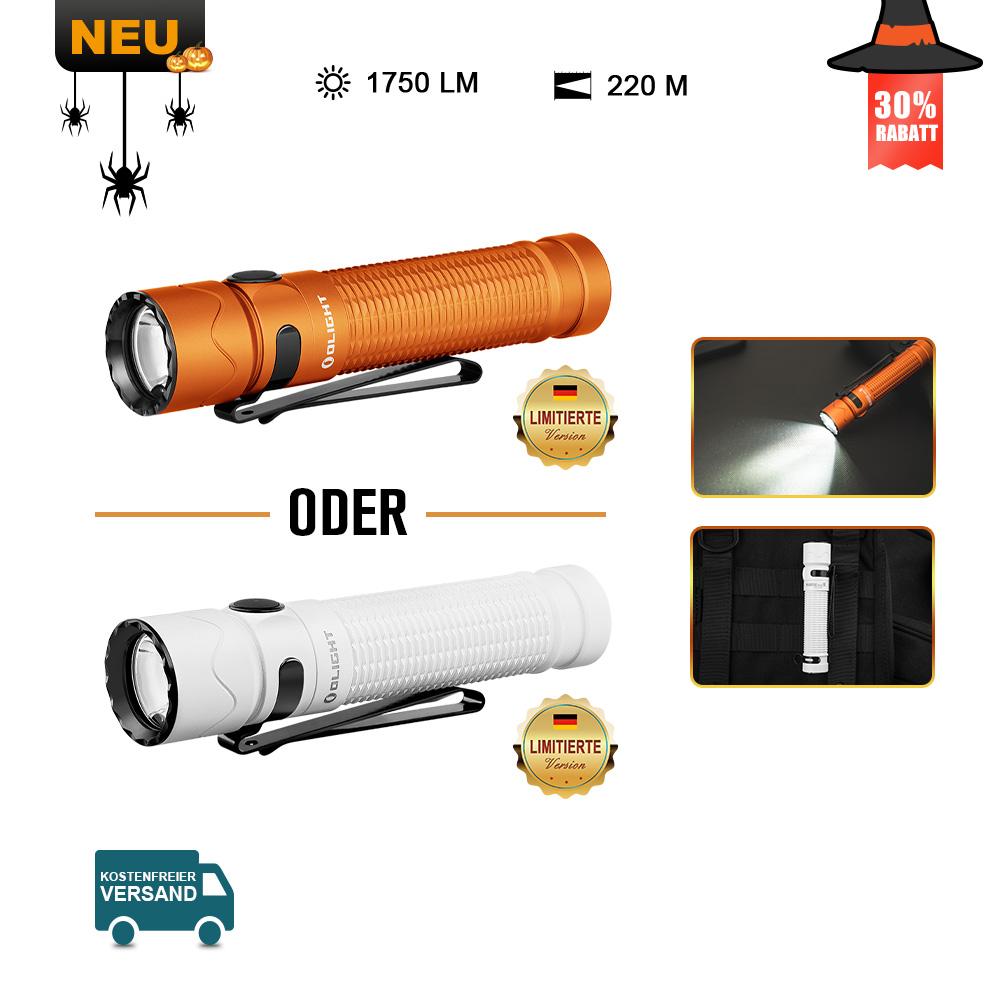 Olight Warrior Mini 2 Taschenlampe Weiß / Orange