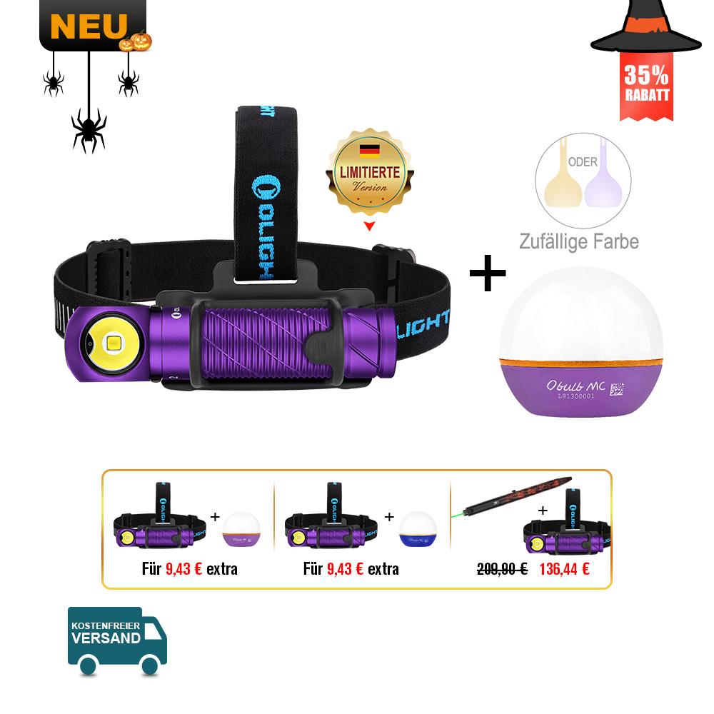 Olight Perun 2 Multifunktionslampe Lila Bundle