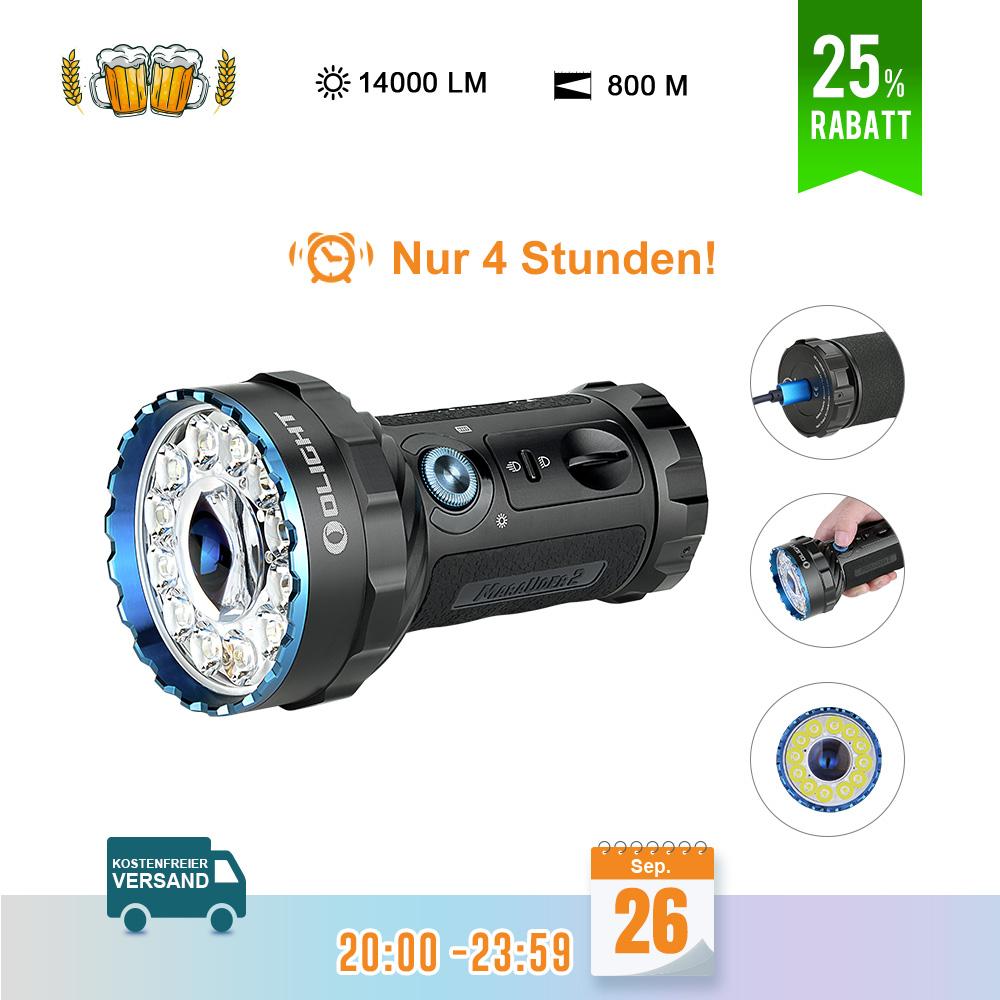 Olight Marauder 2 Leistungsstarke Taschenlampe - Schwarz
