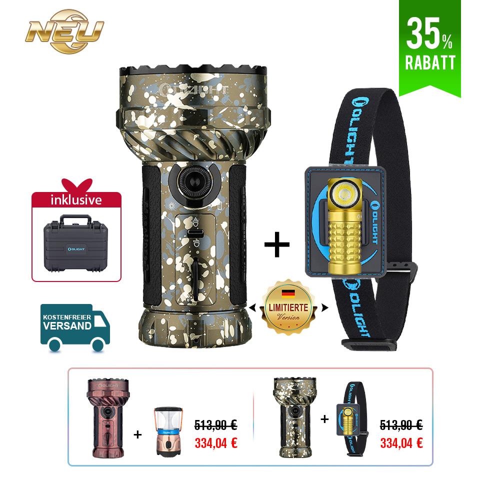 Olight Marauder 2 Leistungsstarke Taschenlampe Bundle