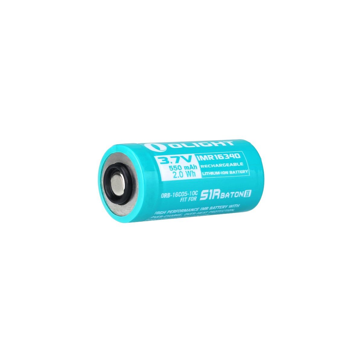 Olight 16340 550 mAh IMR Spezialakku für S1R II/Perun mini/Baton 3