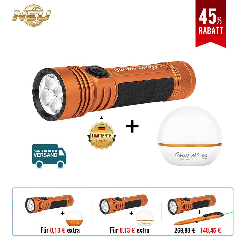 Olight Seeker 3 Pro Orange Bundle