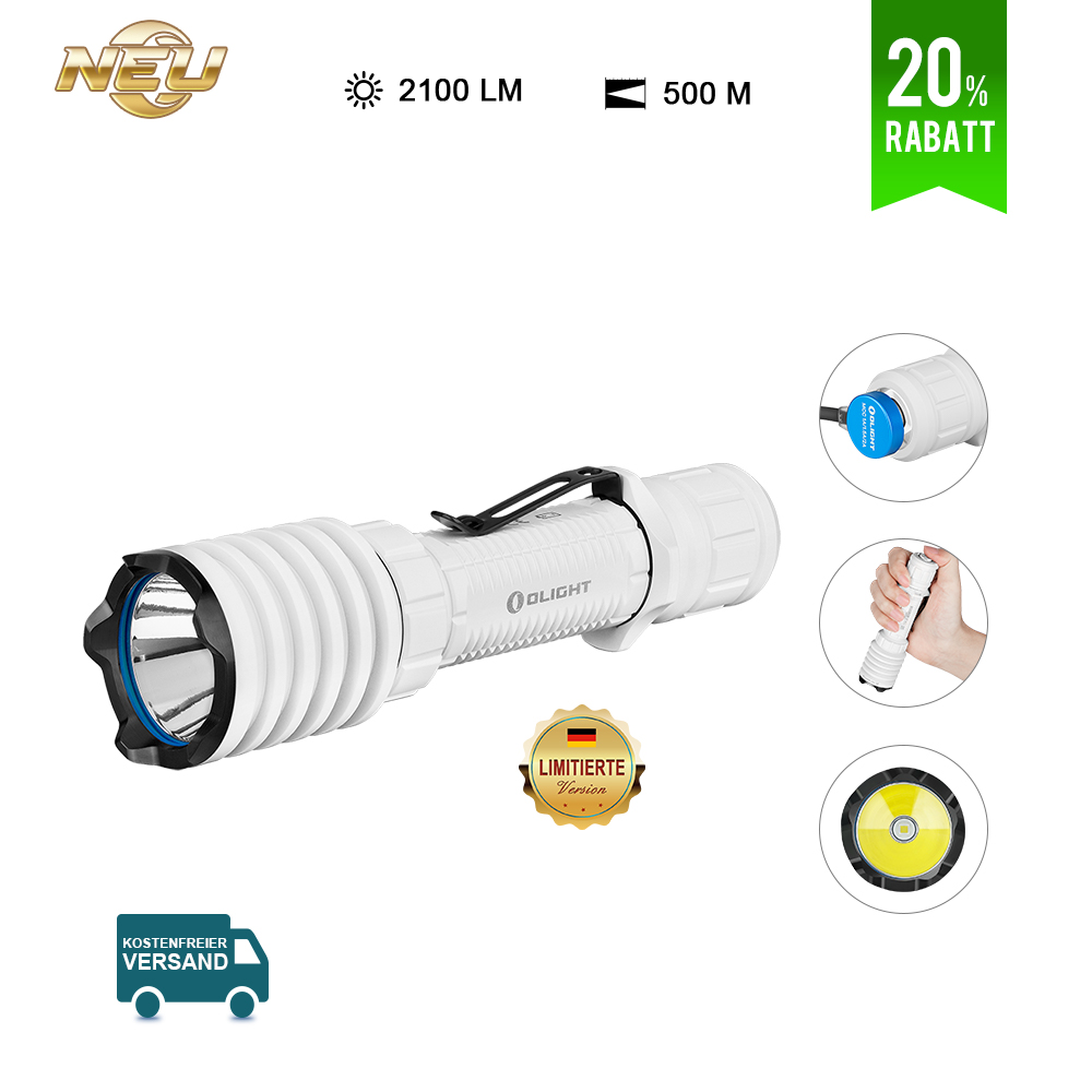 Olight Warrior X Pro Taktische Taschenlampe-Weiß