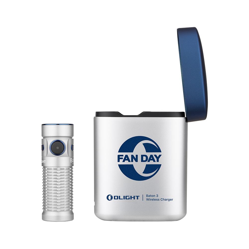Olight Baton 3 aufladbare Taschenlampe Kit Silbe - Münzeinlösung
