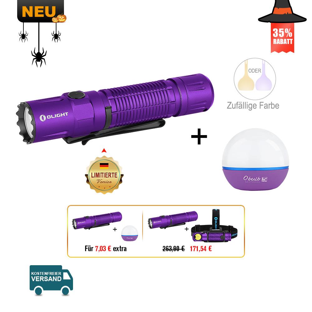 Olight M2R Pro Taschenlampe Lila Bundle