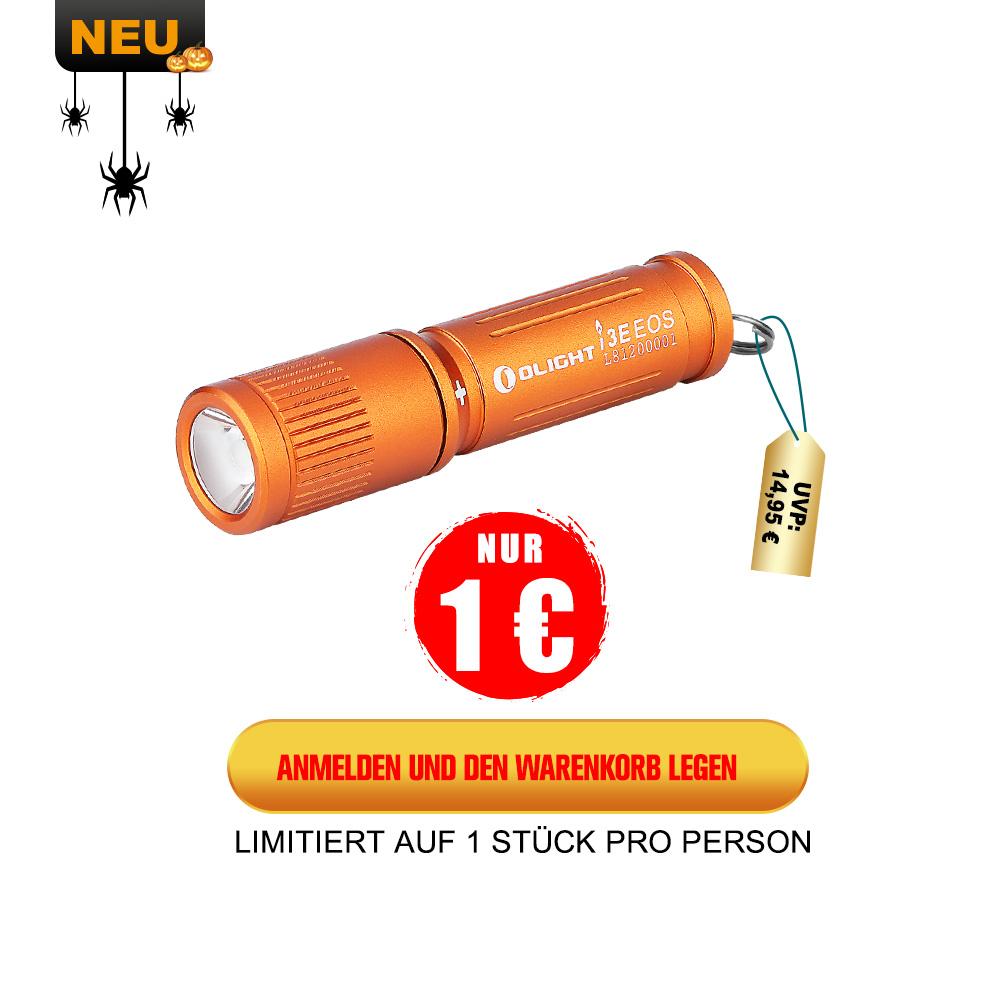 Olight i3E EOC Taschenlampe Orange