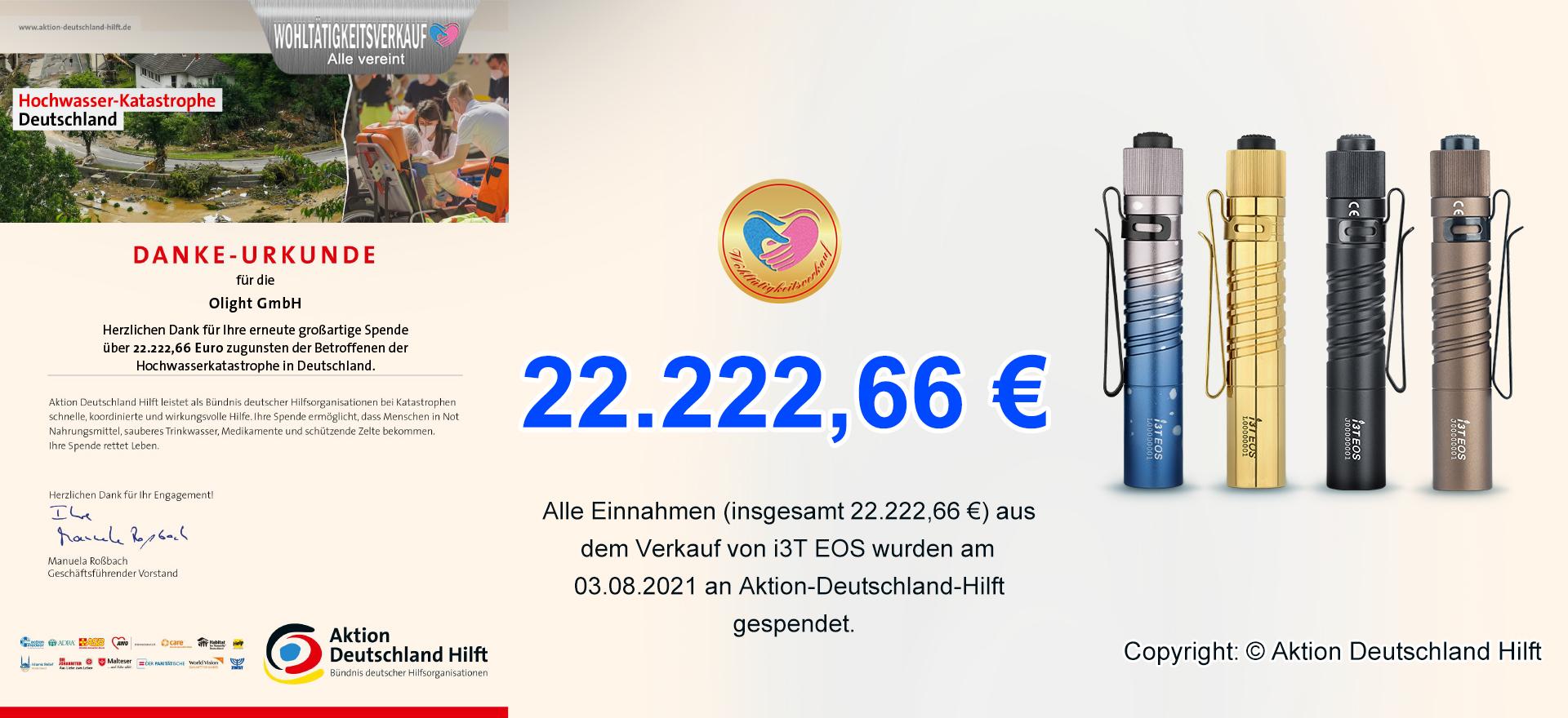 Danke-Urkunde aus Aktion Deutschland Hilft