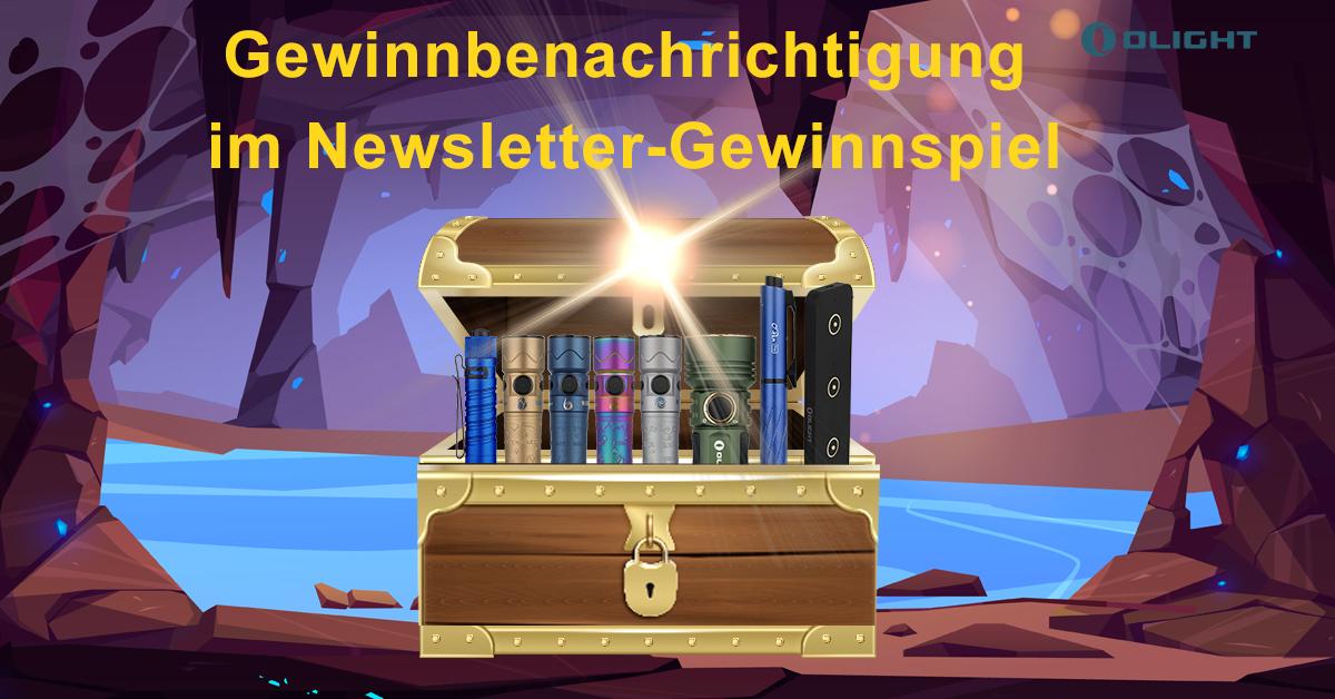 Gewinnbenachrichtigung  im Newsletter-Gewinnspiel