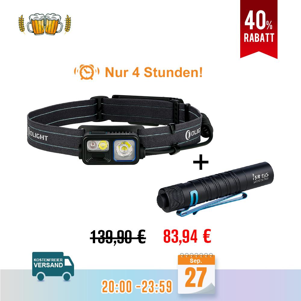Olight Array 2S Stirnlampe und I5R Schwarz Bundle