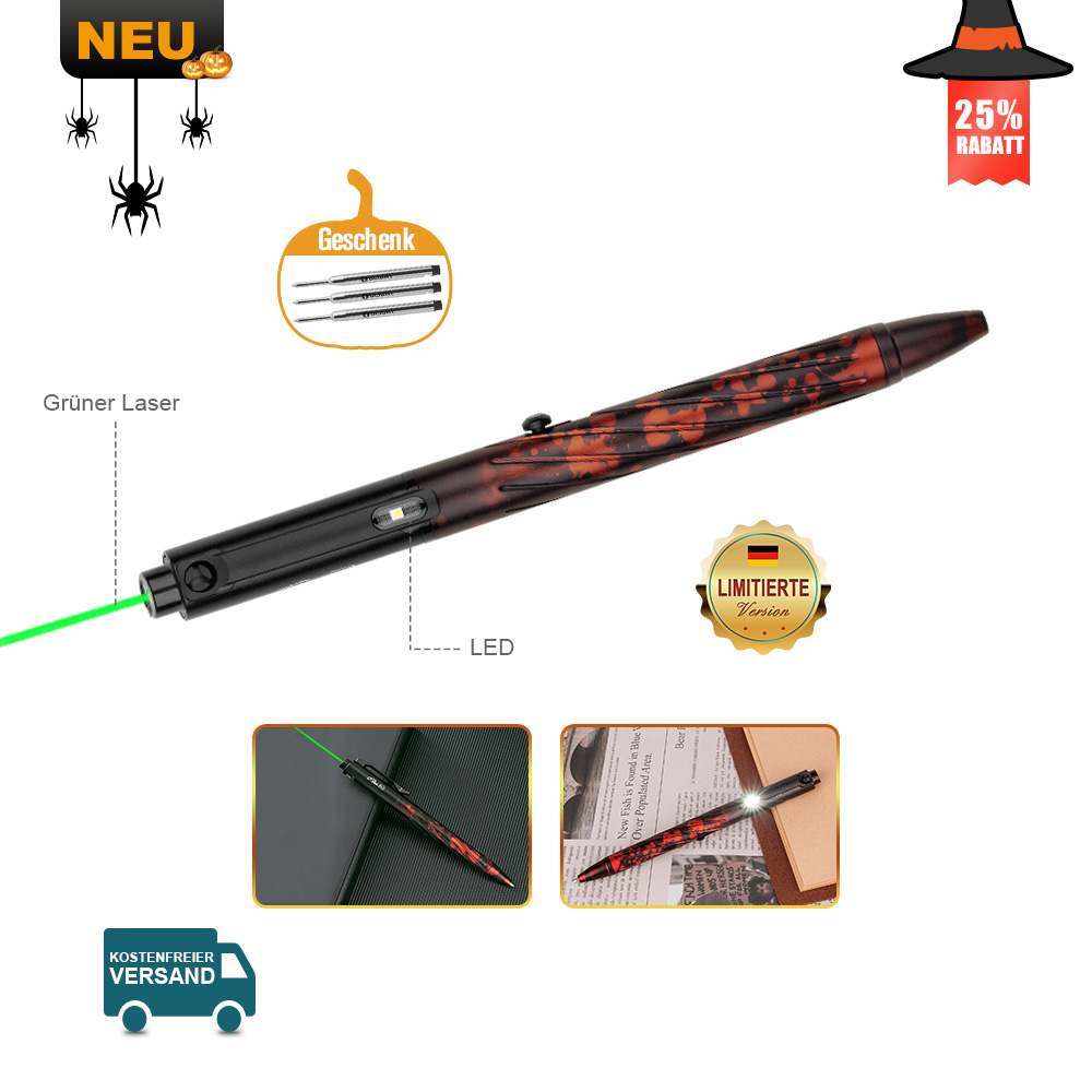 Olight Open pro Stiftlampe Ember Red