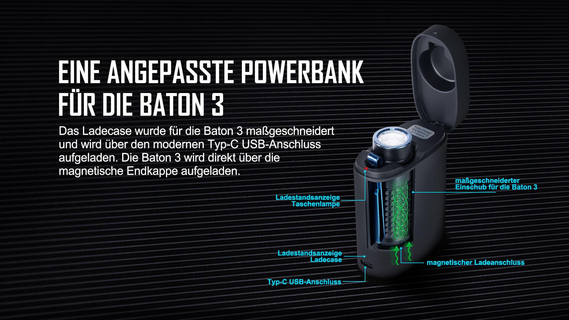 Olight Baton 3 mit intelligenten Aufladensanzeige