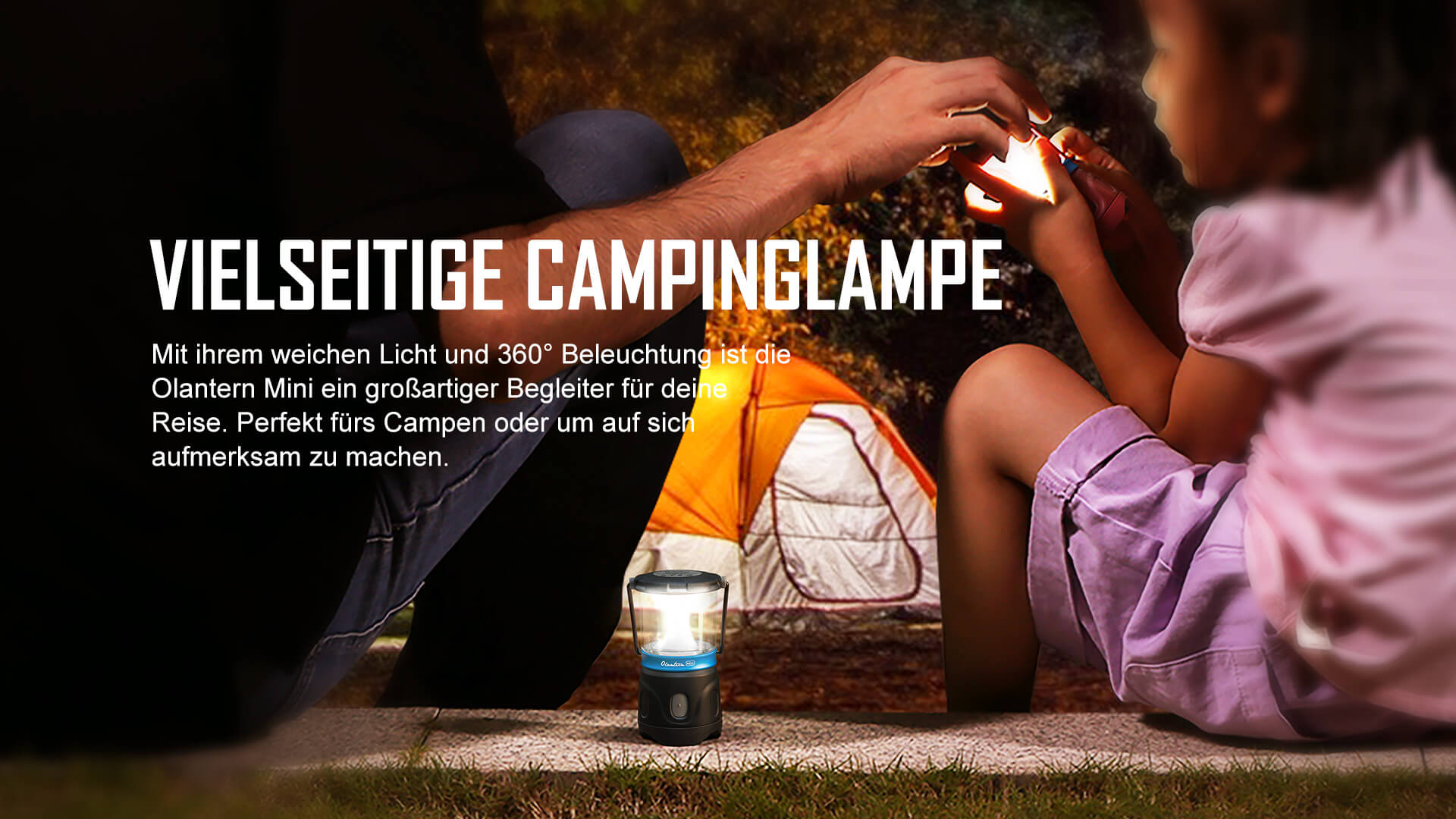 Vielseitige Campinglampe