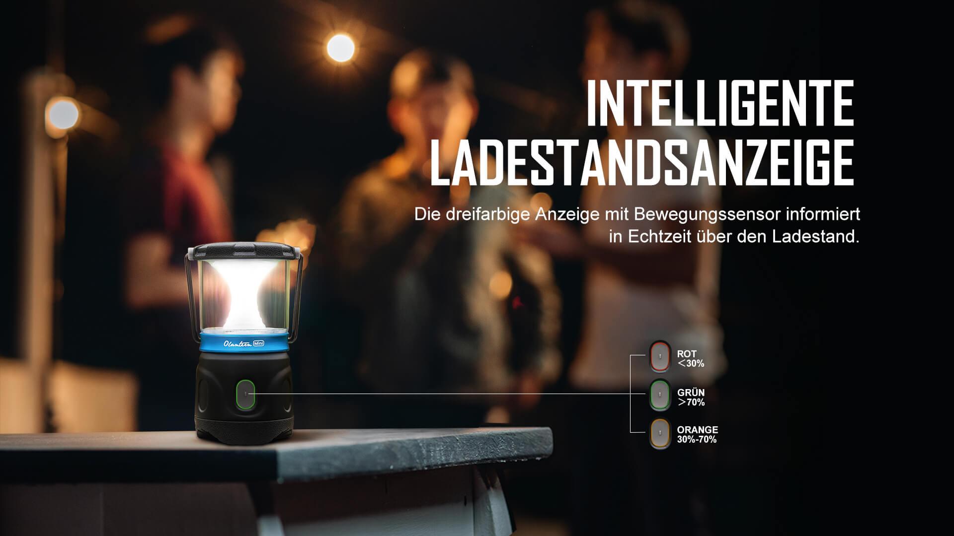 Taschenlampe mit Intelligenter Ladestandsanzeige