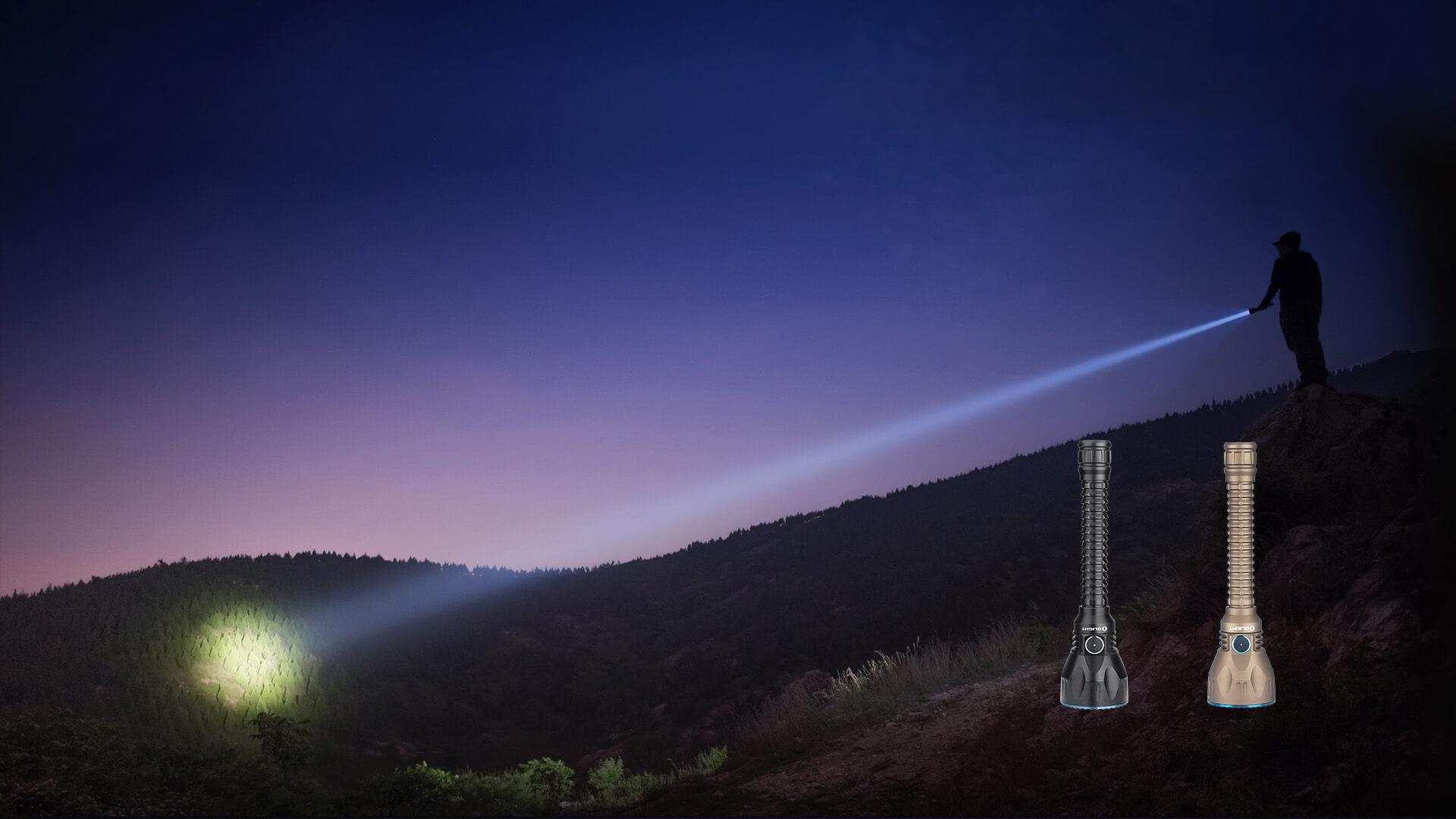 Unglaubliche Leistung von 2100 Lumen sowie eine Reichweite von 1080 Metern