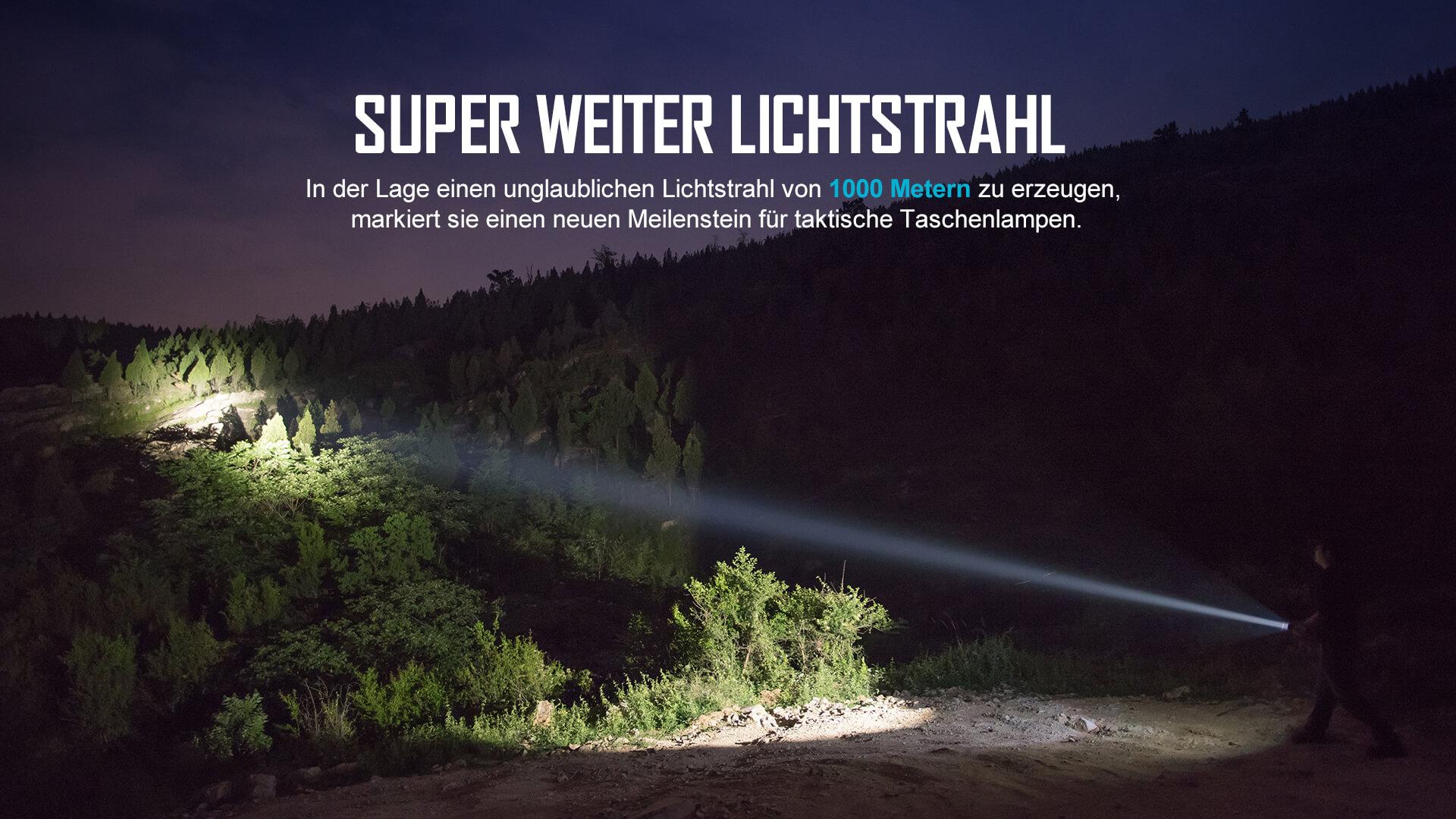 olight taktische Warrior x Turbo Taschenlampe 1100 Lumen