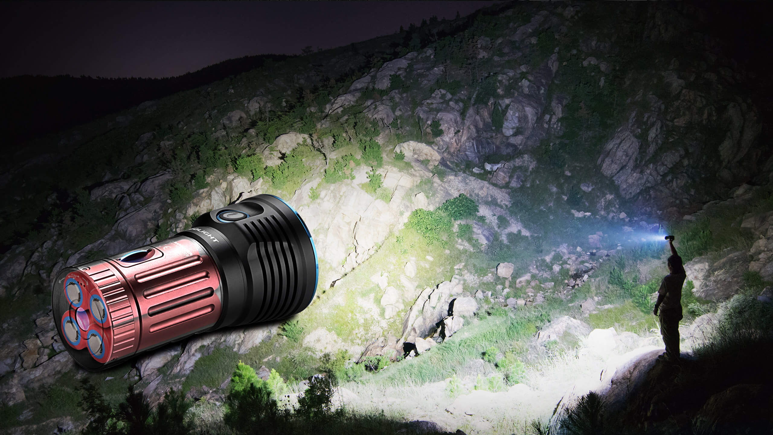 leistungsstarke Taschenlampe 12000 Lumen