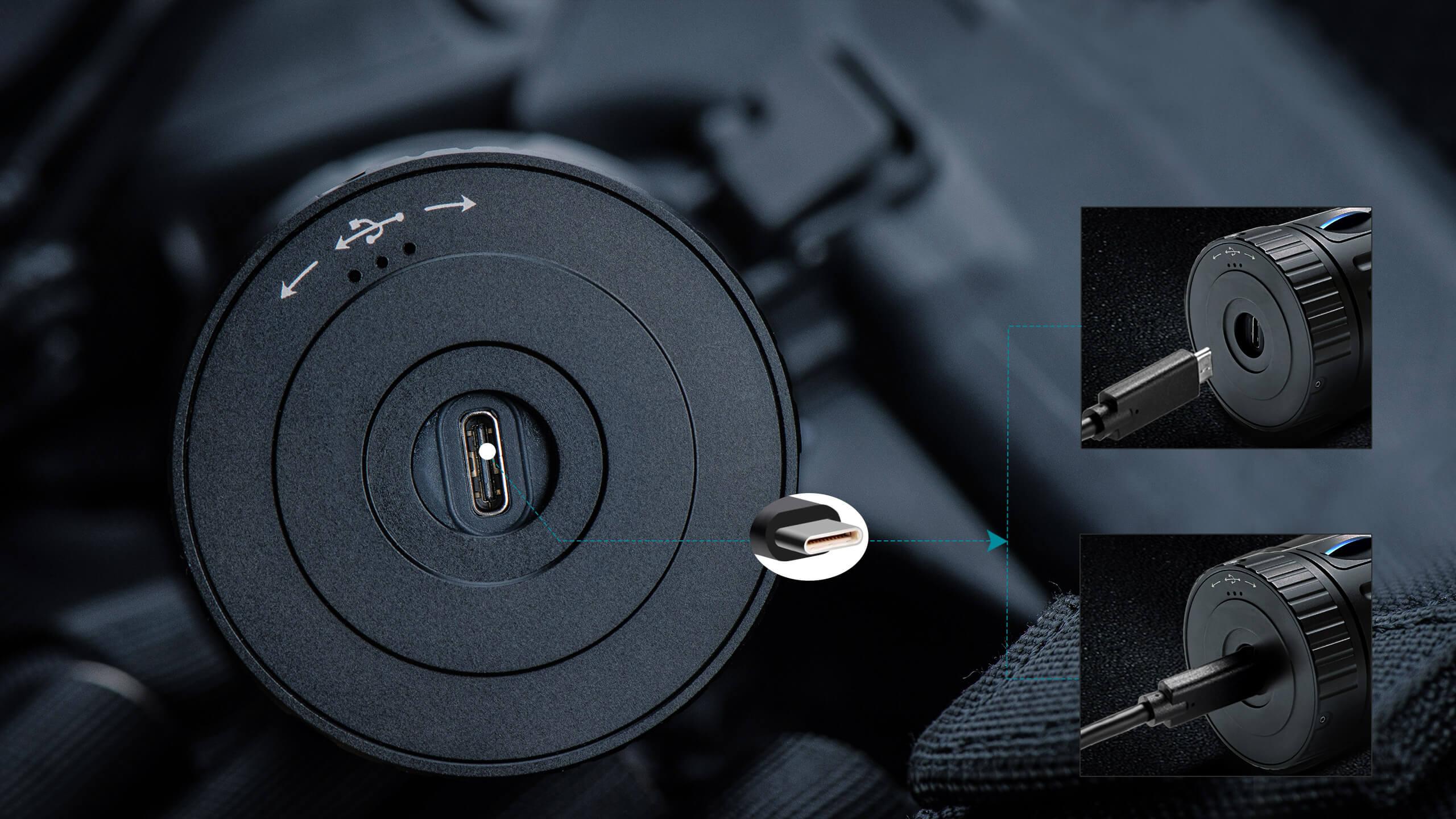 wiederaufladbare Tascehnlampe mit USB Anschluss