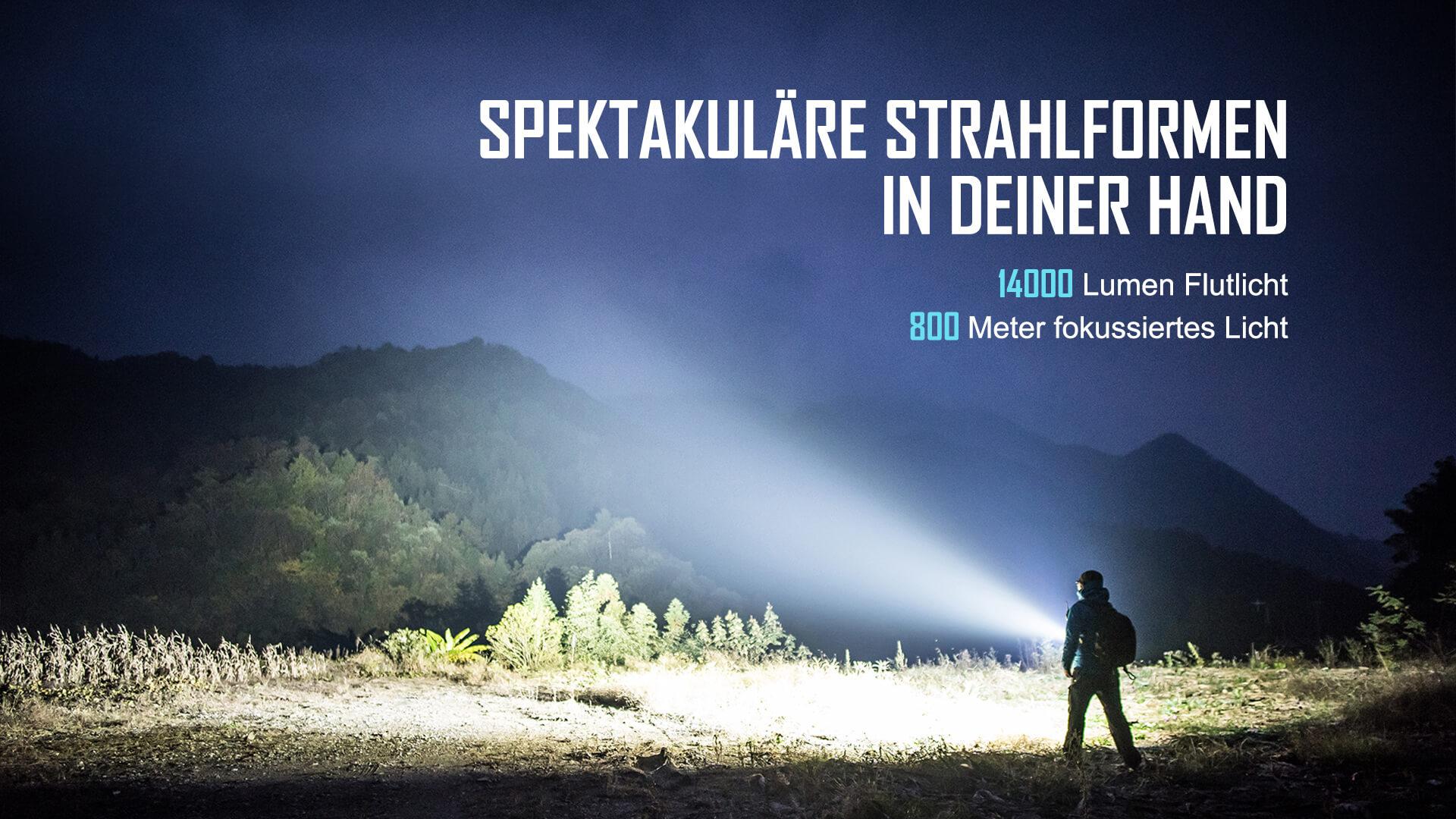 Olight Marauder 2 Taschenlampe 14000 Lumen.