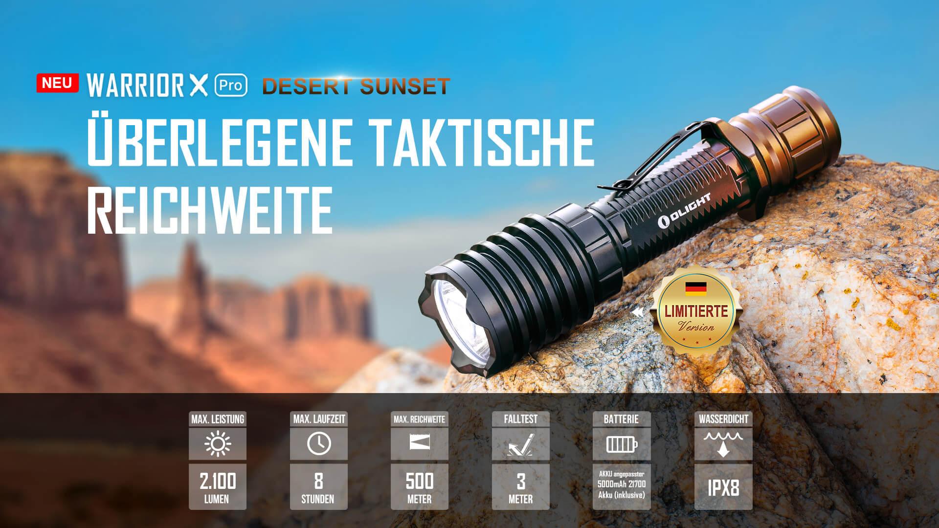 olight taktische Taschenlampe Warrior X Pro