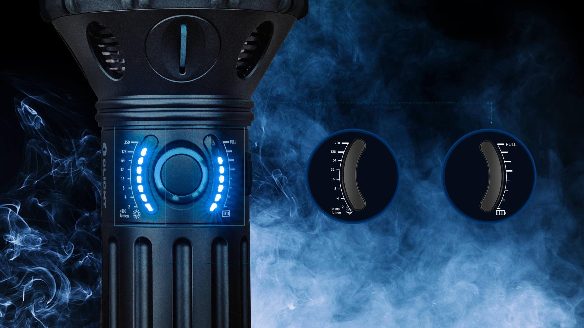 led taschenlampe x9r akku indicator